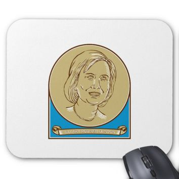 Hillary Clinton 2016 Democrat Candidate Mouse Pad