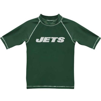 New York Jets Preschool Arch Logo Short Sleeve Rashguard - Green - http://www.shareasale.com/m-pr.cfm?merchantID=7124&userID=1042934&productID=537981992 / New York Jets