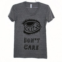 I DON'T CARE Tee GRY