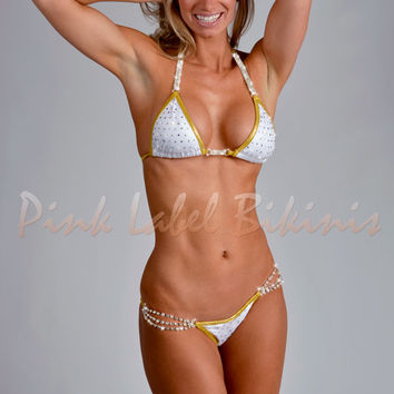 Halo Crystal Competition Bikini Swimsuit Suit For NPC and Contests