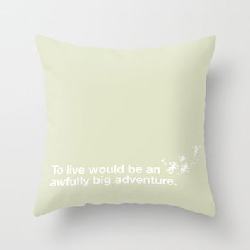 Peter Pan - Green Throw Pillow by SamAnne   Society6