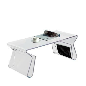 Magazine Acrylic Coffee Table Clear EEI-562-CLR