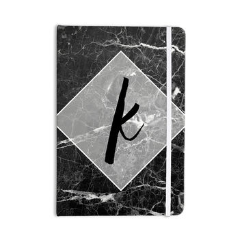 "KESS Original ""Black Marble Monogram"" Everything Notebook"