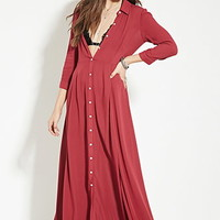 Buttoned Maxi Dress