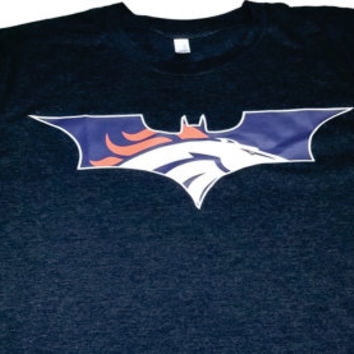 Dark Broncos Knight Mens Ladies T-shirt Denver Colorado  nfl  football Super Hero