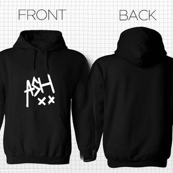 5SOS Ashton Irwin signature Hoodies Hoodie Sweatshirt Sweater Shirt black white and gray Unisex size