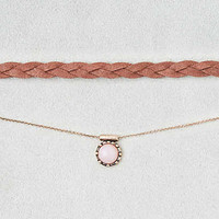 AEO Braided Cord and Chain Lariat , Gold