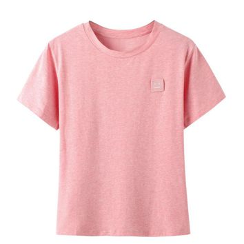 Fashion Pink Smiling Face Short-Sleeved T-shirt