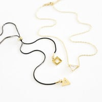 Evening Geo Layering Necklace Set