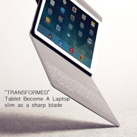 Ultra-thin Wireless Bluetooth Keyboard PU Leather Case Cover for iPad Air 2 iPad Pro 9.7-10 inch Tablet