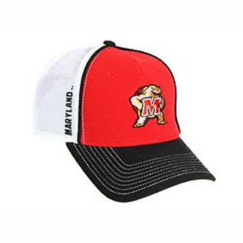 NCAA Officially Licensed Embroidered Maryland Terrapins Mesh Back Velcro Baseball Hat Cap