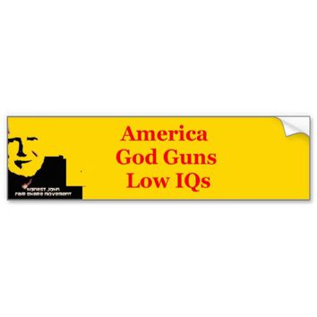 God and guns car bumper sticker