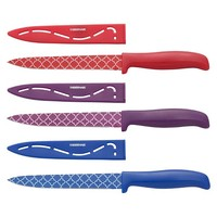 Farberware 5.5-Inch Patterned Fine Edge Utility with Blade Cover Assorted