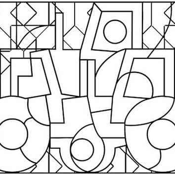 Tractor Abstract Art Coloring Page Printable Digital Graphics Image Download Jpg Stamp Printables