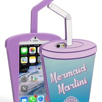 Skinnydip 'Mermaid Martini' iPhone 6 Case - Blue