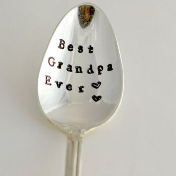 Best Grandpa ever, teaspoon-silver plated- father's day gift- gift for grandpa