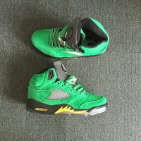 "AIR JORDAN 5 ""Duke"" Green Men Basketball Shoes Sneaker"