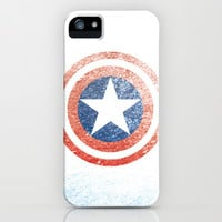 Captain America iPhone & iPod Case by Juan Martos
