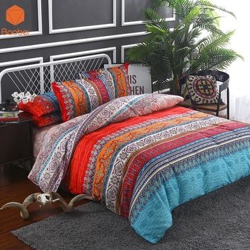 Bohemia stripe 3Dcomforter bedding sets Mandala Pillowcase 48x74cm Printed Polyester Duvet Cover Set Full Queen King SizeSj91