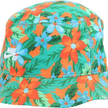 Nike SB Floral Bucket Hat - pine green/white - Free Shipping