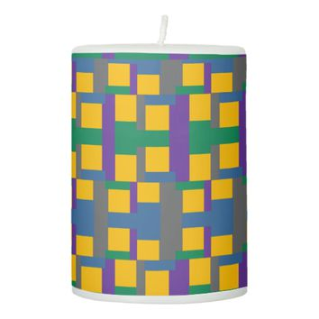Randomly Squared Pillar Candle