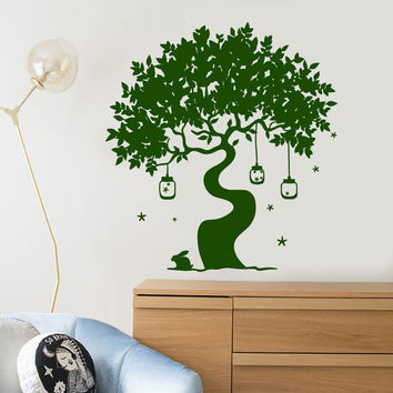 Vinyl Wall Decal Magic Tree Fairy Tale Rabbit Art Children's Room Stickers Unique Gift (1407ig)