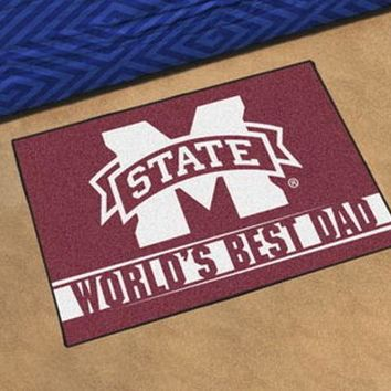 FANMATS Mississippi State Bulldogs World's Best Dad Starter Mat Rug