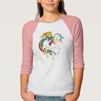 Rainbow Brite on Starlite waving T Shirt