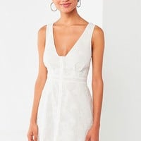 UO Eyelet Button-Down Mini Dress   Urban Outfitters