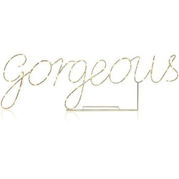 'Gorgeous' LED Wire Light-up Sign | Home & Garden | George