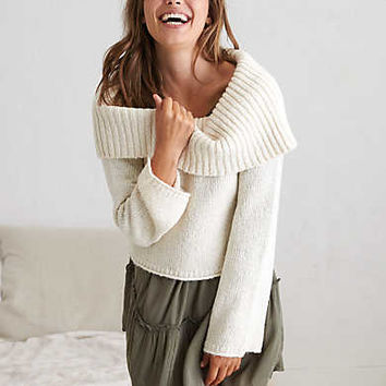 Aerie Off-The-Shoulder Sweater , Cream