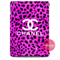 Pink Leopard Chanel iPad Case 2, 3, 4, Air, Mini Cover
