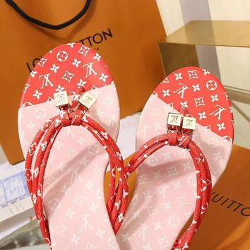 LouisVuiton LV Double buckle with logo Fashion casual sandals