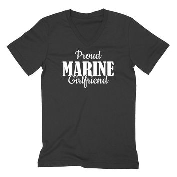 Proud marine girlfriend V Neck T Shirt