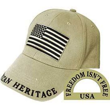 USA American Flag (Brass Buckle) Hat