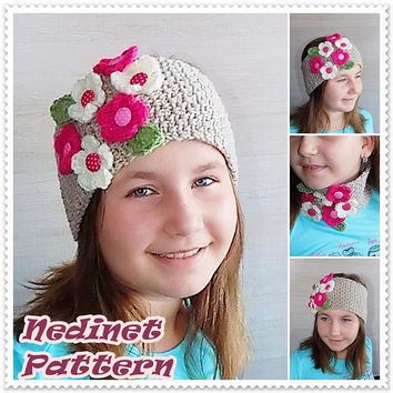 Crochet pattern, Crochet Headband pattern, Ear Warmer pattern, crochet scarf pattern, Woman headband PATTERN