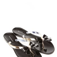 Dear Diva Black Jelly Sandals