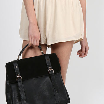 Leatherette Suede Backpack