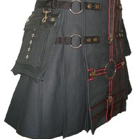 Utility Kilts Handmade Steampunk Fetish Gear adjustable custom interchange parts collect aprons