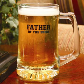 Glass Father of the Bride Mug - Etching Personalized Perfect Wedding Gift