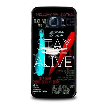 twenty one pilots stay alive samsung galaxy s6 edge case cover  number 1