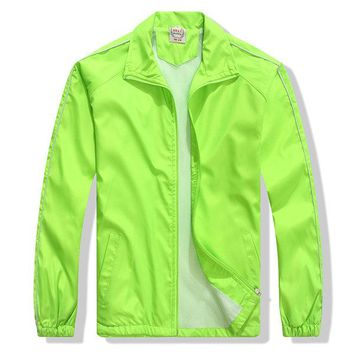 Mens Fashion Jacket Bright-colored Zipper Lightweight Casual Sport Outwear