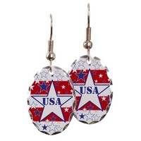 USA stars and Stripes Earring