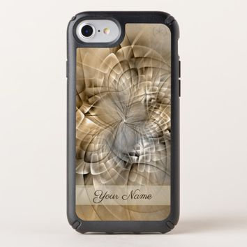Earth Tones Abstract Modern Fractal Art Name Speck iPhone Case