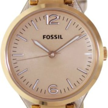 Fossil Georgia Dial Rose Rose Leather Ladies Watch ES3413