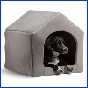High Quality Pet Products Luxury Dog House Cozy Dog Bed Puppy Kennel 5 Color.