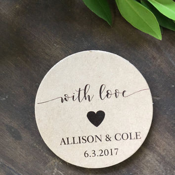 Wedding Seals, Rustic Wedding Stickers, Honey Favor Labels, Jar Candle Labels, Wedding Favor Seals, Bridal Shower Tags, Set of 24
