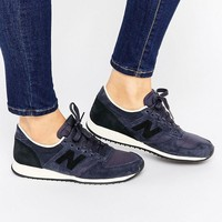 New Balance | New Balance 420 Navy And Black Suede Trainers at ASOS