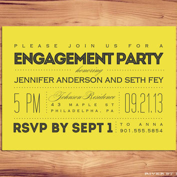 DIY Printable Engagement Party Invitation