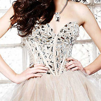 Strapless Beaded Prom or Party Dress by Sherri Hill